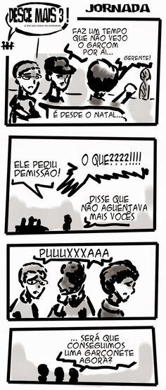 RABISCOS ENQUADRADOS: DESCE MAIS 3! Nº 141: EM BUSCA DO GARÇOM PERDIDO P...