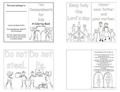 coloring pages for kids each 10 commandments | Thou Shalt Not Take ...
