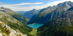 Zillertal Alps in Austria
