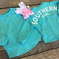 """""""For your little southern girl!  Little girls jersey tee- $28.99 (2T-4T) Pink bow- $8.99 White bow- $7.99 We ship! Call to order! 903.322.4316 #shopdcs #goshopdcs #shoplocal #love #southerngirl #southernbythegraceofgod #godblesssoutherngirls"""" Photo taken by @daviscountrystore on Instagram, pinned via the InstaPin iOS App! http://www.instapinapp.com (01/28/2016)"""