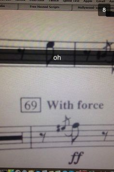 Everytime in band measure 69 came up on the piece, i would lean forward and smirk at my friend who played Baritone sitting 4 people down from me and he'd try not to laugh
