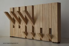 Design coat rack oak/clothing hanger, folding and fold-out hooks, available in any size