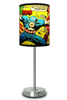 Marvel Comics Capt. America Close Up Lamp by Lamp-in-a-Box @ Jack Threads -- want