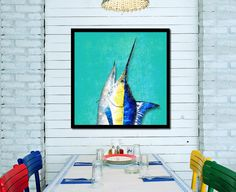 Swordfish Fish Wall Art 14681 Canvas Print Picture Frame Home Décor Gift Fishing in Home & Garden, Home Décor, Posters & Prints   eBay