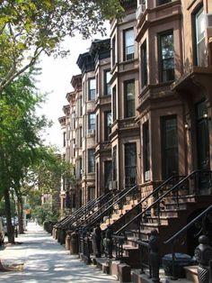 Row houses. Brooklyn.
