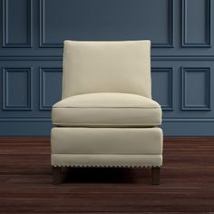 Addison Armless Chair, Down Blend, Performance Textured Weave, Driftwood