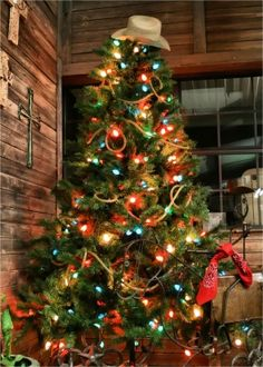 If you're looking to bring a little rough and tumble to your tree, look to the old West for inspiration. There are tons of color options, and this is one theme that really allows you to get crafty with props.