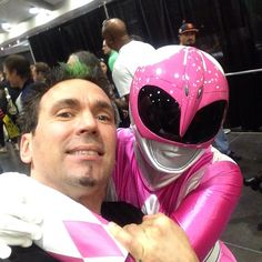 Jason David Frank with the pink mighty morphin power ranger Jason David Frank, Amy Jo Johnson, Pink Power Rangers, Mighty Morphin Power Rangers, Beautiful Women, Green, Beauty Women, Fine Women