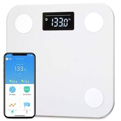Picooc Mini White Clever Smart Body Fat Analyser Apple iOS e Android App Unique Long Term Evaluation Bluetooth Body Scale