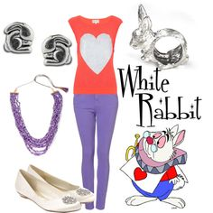 White Rabbit I, created by alsni on Polyvore