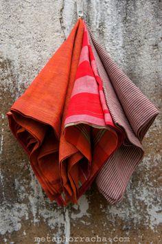 #homespun and #handwoven #khadi napkins .