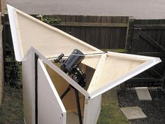 A personal telescope shelter doesn't have to take up a lot of yard space.