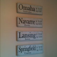 Home is Where the Air Force Sends Us...Signs for every Duty Location...cute idea for the wife of a solider!