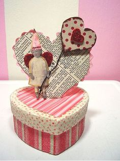 altered art Valentine's box