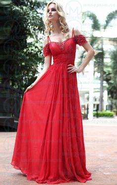 Nice Long Red Tailor Made Evening Prom Dress (LFNAE0008) cheap online-MarieProm UK