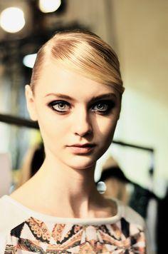 RedFashion Nastya Kusakina, Fashion Show Makeup, Glamour, Portrait, Photography, Beauty, Vintage, Russia, Russian Models