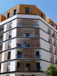 Image result for persiennes coulissantes immeuble