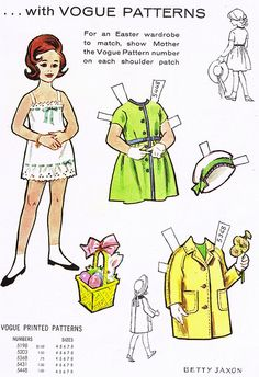 Paper Doll from Jack and Jill,1962
