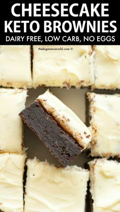 Keto Brownies, Cream Cheese Brownies, Cheesecake Brownies, Keto Cheesecake, Box Brownies, Vegan Brownie, Brownie Recipes, Dessert Recipes, Keto Recipes