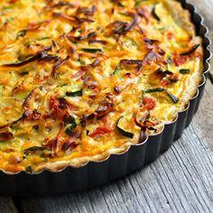 Meatless Monday: Zucchini, Tomato and Cheese Tart - Ezra Pound Cake