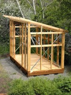 wonder if we can make a longer version and divide it? half shed half green house #shedplans