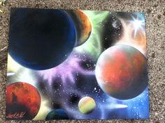 Spray paint art
