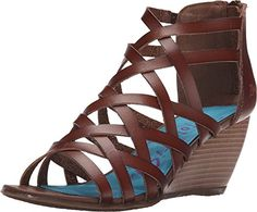 New Blowfish Womens Blip Wedge Sandal Whiskey Dyecut 10 * This is an Amazon Affiliate link. Read more reviews of the product by visiting the link on the image.