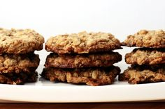Crispy chocolate toffee oatmeal cookies. They're healthy because they have oats in them?