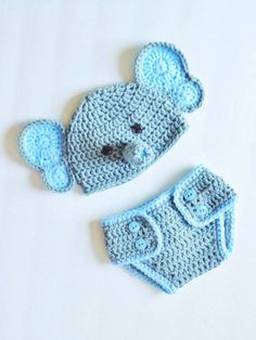 Baby Elephant Photo Prop Hat and Diaper Cover by ChucksForChancho, $30.00