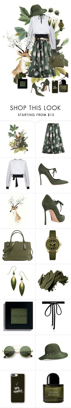 """Back to nature"" by nilampermatasary ❤ liked on Polyvore featuring Rochas, Casadei, Coach, Michele, Sienna Sky, Bobbi Brown Cosmetics, Joomi Lim, ZeroUV, Betmar and Casetify"