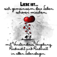 ❤️ Liebe ist ... sich gemeinsam das #Leben schöner machen,mit #Verständnis , #Vergebung , #Rücksicht - knochi_art