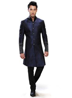 Men Fashion Designer Wedding Groom Indowestern Sherwani Coat Jacket Blazer Pant #IndowesterSherwani