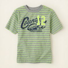 boy - neon-striped graphic tee | Children's Clothing | Kids Clothes | The Children's Place
