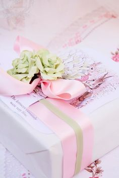 Pink gift wrap