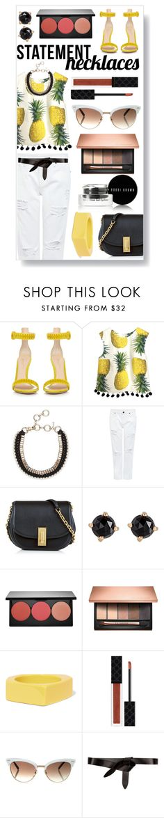 """""""Collared! Statement Necklaces"""" by ittie-kittie on Polyvore featuring Gianvito Rossi, Edit, Marc Jacobs, Irene Neuwirth, Smashbox, Clarins, Marni, Gucci, Étoile Isabel Marant and Bobbi Brown Cosmetics"""
