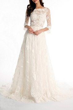 Note: Condition: 100% Brand New Fabric: Lace Wedding Dresses A-Line styleZipper Back3/4 Sleeves Available Colors: Colors to choose (if you need other color please contact us ) Size: Custom-made or S...