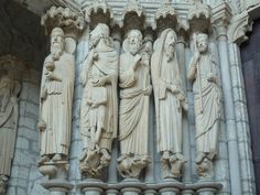Chartres, North Porch, Central Portal, Left Jamb, Cathedral of Notre Dame de Chartres, c.1145 and 1194-c.1220, Chartres (France)