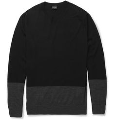 PS by Paul Smith Panelled Merino Wool Sweater | MR PORTER