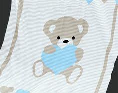 CROCHET Pattern Baby Blanket Pattern Kitty Cat by PatternWorldUK