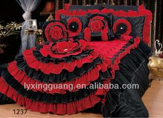 Source Black /Red Flower Wedding Comforter on m.alibaba.com