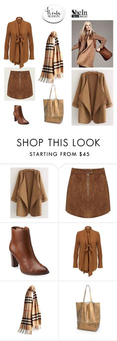 """""""cardigan"""" by bluemerant ❤ liked on Polyvore featuring Miss Selfridge, Clarks, Burberry and shein"""