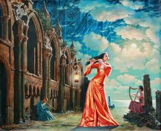 Michael Cheval is the world's leading contemporary artist, specializing in absurdist paintings, drawings and portraits. In his definition, absurdity is an inverted side or reality, a reverse side of logic. It does not emerge from the dreams of surrealists, or the work of subconsciousness. It is a game of imagination, where all ties are carefully chosen to construct a literary plot.