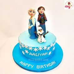 Frozen theme cake for a little girl who's so in love with Anna, Elsa and Olaf that she wanted a frozen theme cake second year in a row for her birthday.. ❄️☃️❄️ #cake #birthday #birthdaycakes #frozenthemecake #frozencake #Disney #Elsa #Anna #Olaf #snow #snowflake  #kids #designercakes #disneycakes #cakesofinstagram #themecakes #homebaker #handmade #delhibaker #Delhi #instacute #kidscakes #cakesdorkids #instapretty #foodtalkIndia #edibleart #zocialus #zomato #frostedheavenbyaarohi
