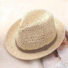 3767c3110b3 Fashion Straw Hat Mens Straw Hats