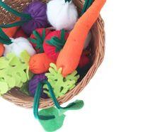 Felt toys Felt Food Felt Garden Set Lifelike Play by Feltbelly