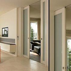 Double pocket door, concealed ceiling track - B46 - modern - interior doors - miami - Bartels Exclusive Designer Doors