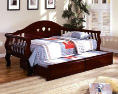 Cherry Finish Charlotte Day Bed with Twin Trundle CM1625CH