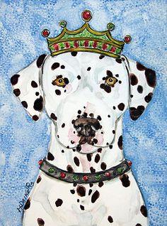 King Dalmatian Dog Painting by Melinda Dalke 30% donation to Adopt a Spot Dalmatian Rescue