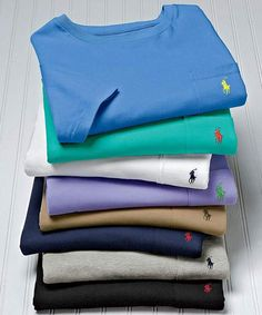 Ralph Lauren Polo Pocket Tee - love these I don't think you can have too many of these Karsen