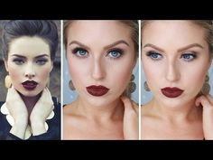 Glam Fall/Autumn Makeup ♡ Bold Dark Red Lips - #Shaaanxo  https://www.youtube.com/watch?v=L7GYOzB6cK8